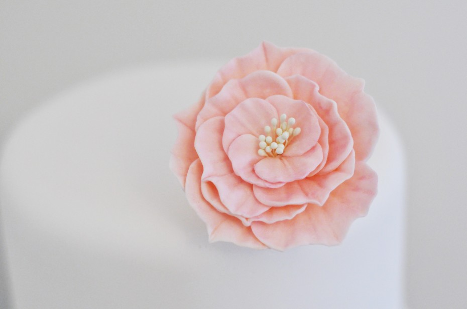 Open Rose Gumpaste Flower