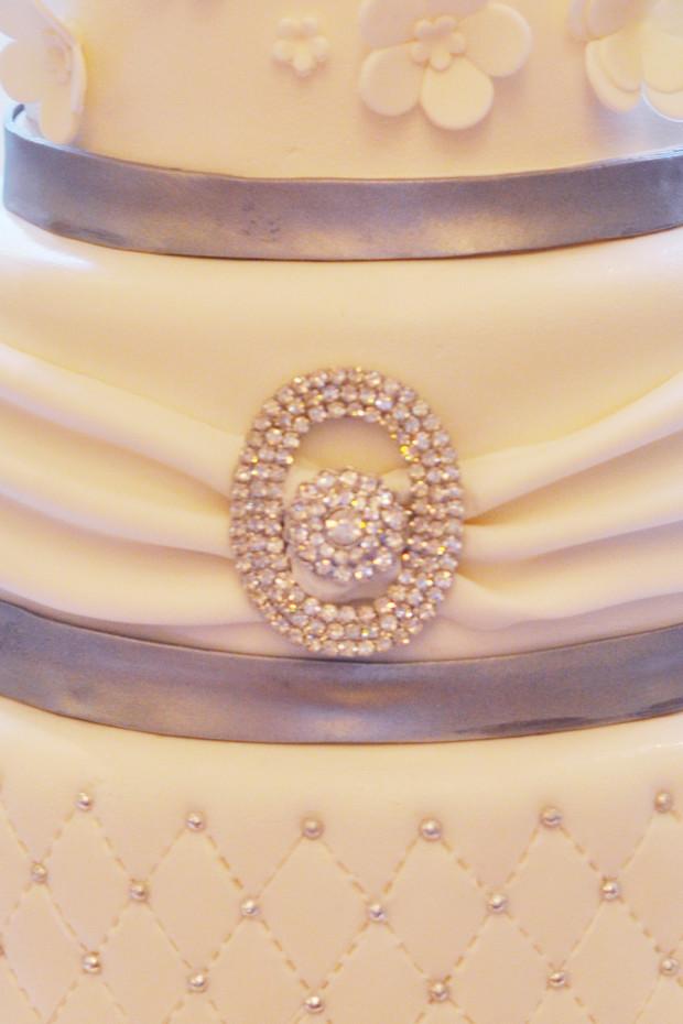 Wedding Cake Bling Brooch