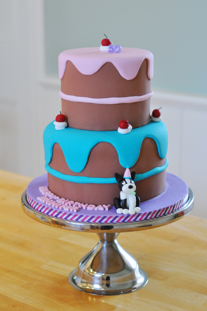 Whimsical Drippy Icing Cake