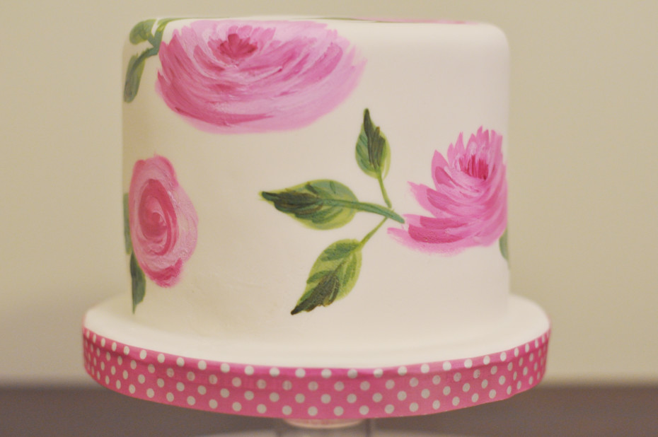 Painted Rose Cake