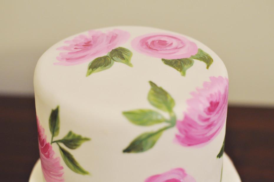 Painted Rose Cake