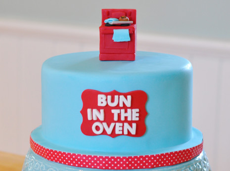 Bun in the oven cake