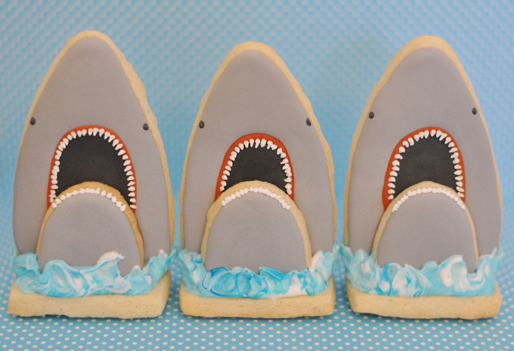 Stand-up Shark Cookies