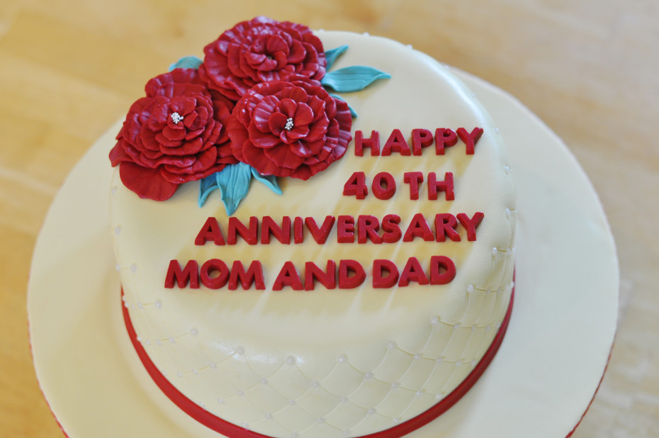 Ruby Red Anniversary Cake