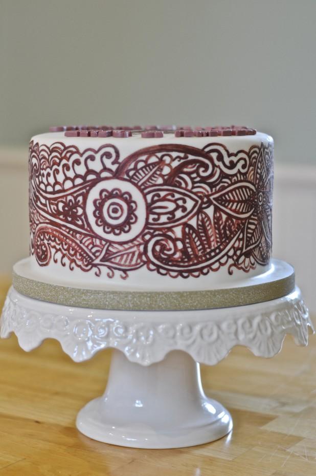 Henna Mehndi Cake