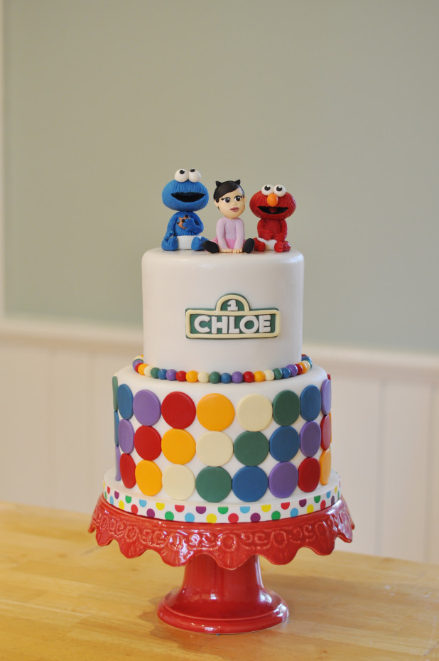 Cookie Monster & Elmo Cake