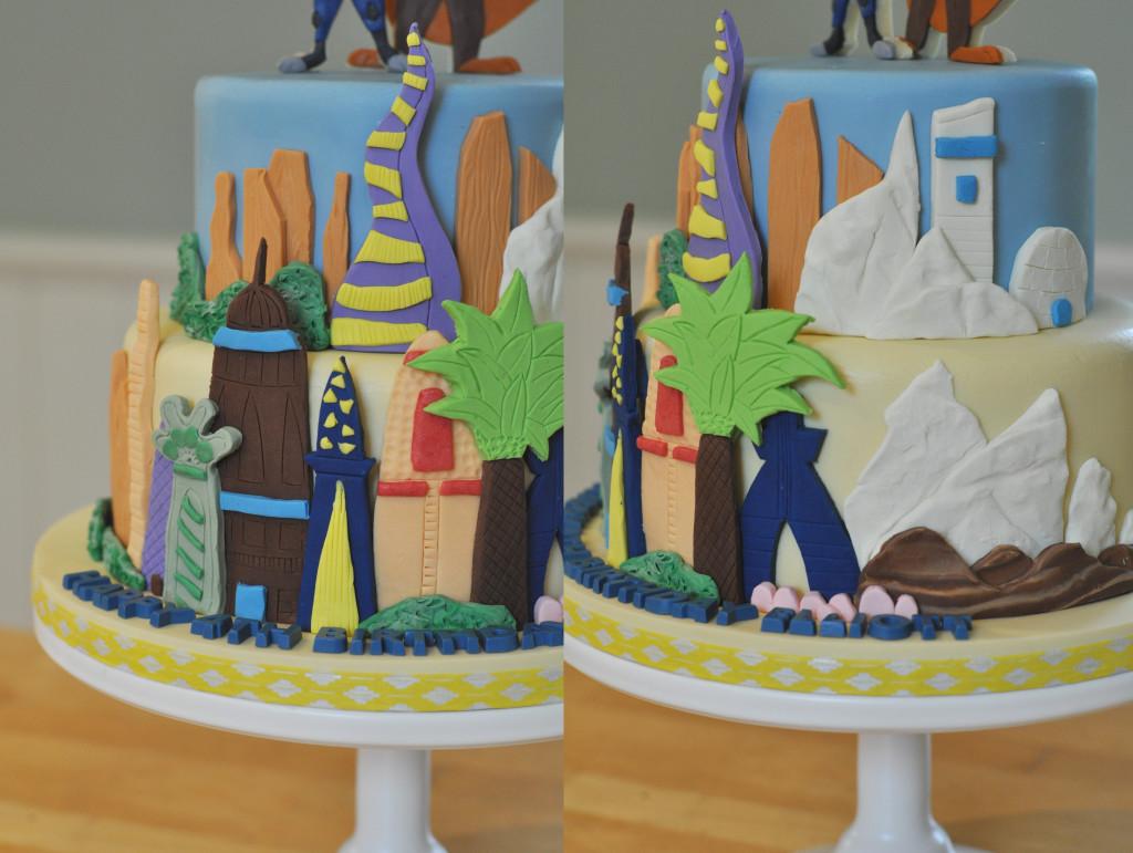 Zootopia City Cake