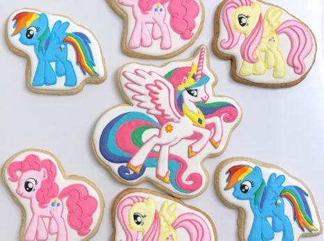 Rainbow Dash Pinkie Pie Fluttershy Princess Celestia Cookies